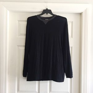 Giorgio Armani Black Long Sleeve T Shirt XL